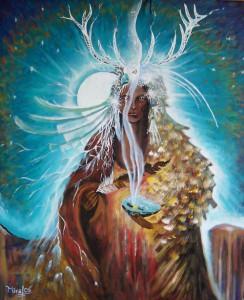 Šaman - plátno