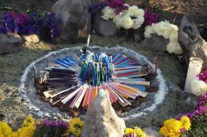 Ceremonie mayských posvátných ohňů